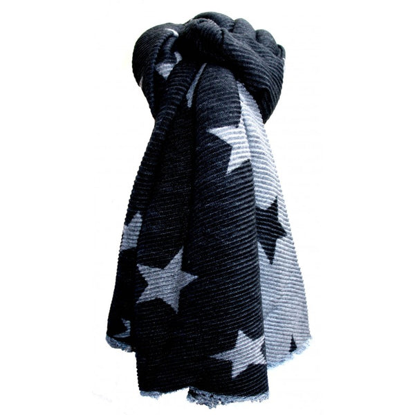 Pleated Scarf - Stars