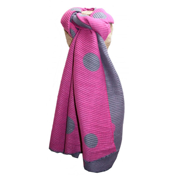 Pleated scarf - dots