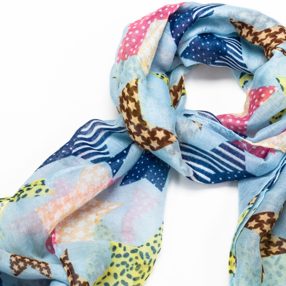 Patterned Star Scarf - Various Colours