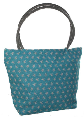 Tote Star - Turquoise Grey