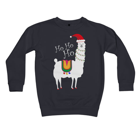 Christmas Llama Kids Retail Sweatshirt