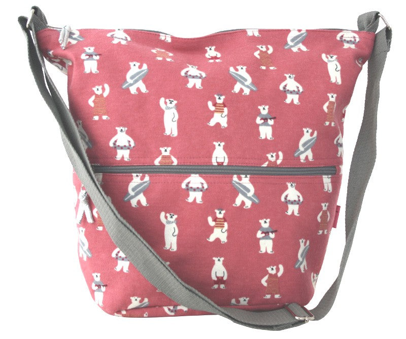 Cross Body Slouch Bag Cute Bears