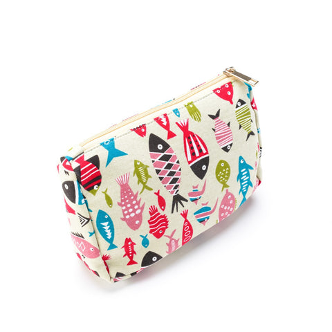 Fishes Make Up Bag