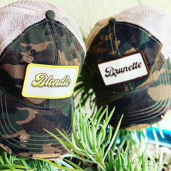 Blondie & Brunette Camo Patch Cap