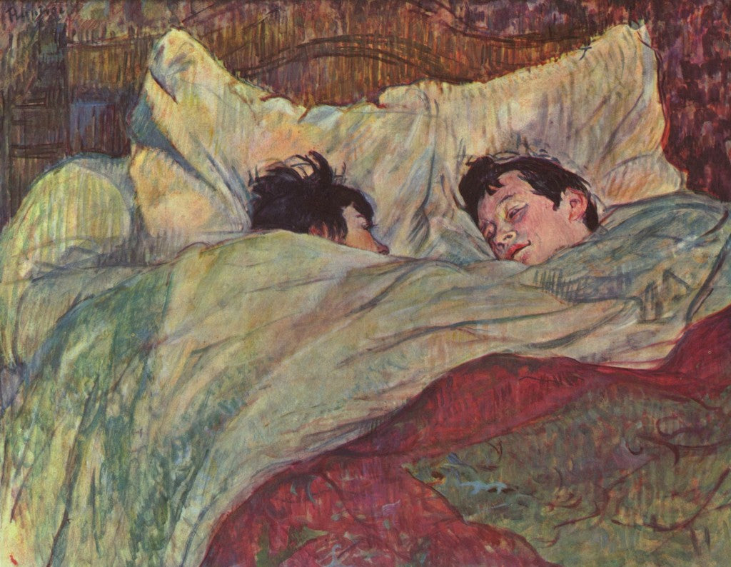 In bed, Toulouse Lautrec (1893)