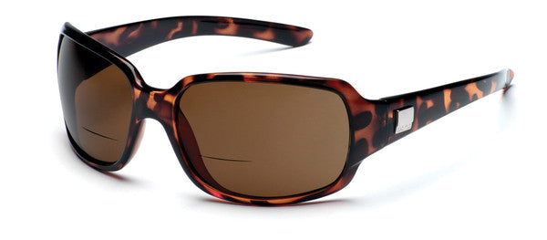 Suncloud Cookie +2.00 Sunglass Readers Tortoise Frame Polarized Brown Lenses Size 64-18-122