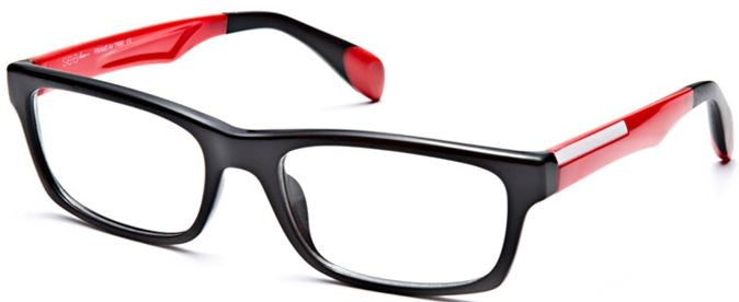 Seeline G6114 Eyeglass C46 Black Red Frame Size 54-18-140