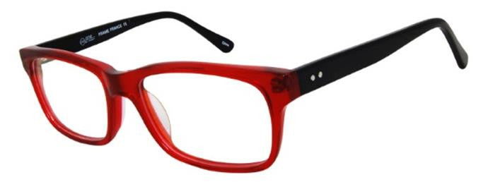 One Collection WSAC Eyeglass Red Frame Size 52-17-140