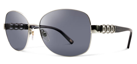 Tommy Bahama TB7027 Truth Or Flare Sunglasses 045 Silver Frame Grey Polarized Lenses
