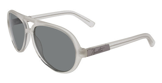 Nautica N6148S Sunglass 112 Frosted White Frame Polarized Smoke Lenses Size 57-14-135