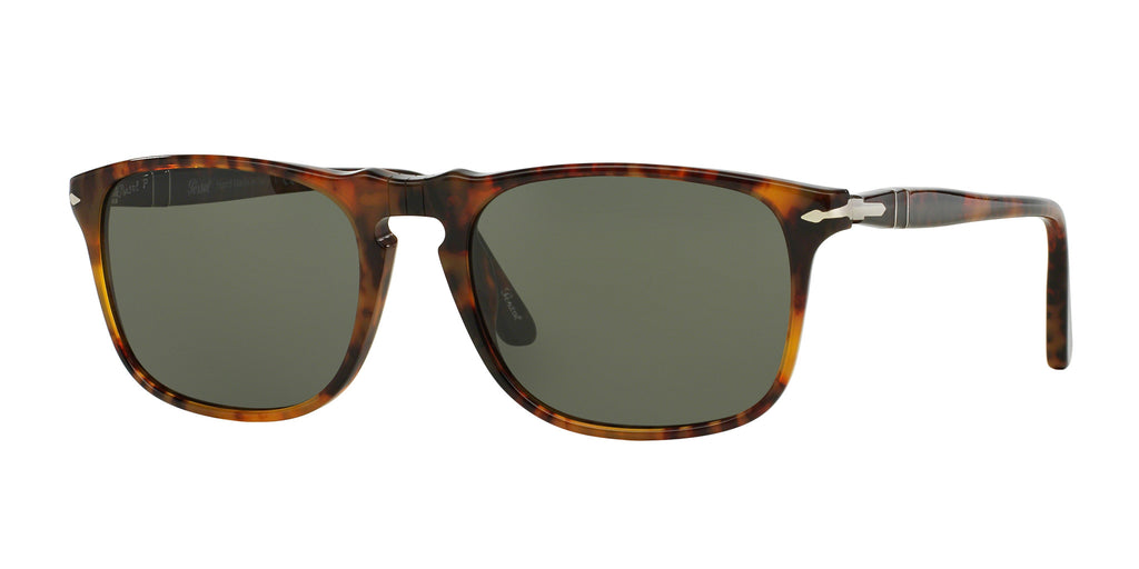 Persol PO3059S Sunglass 108/58 Caffe` Frame Polarized Green Lenses Size 54-18-145