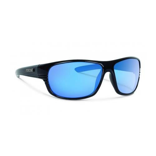 Forecast Scout Sunglass Black Frame Polarized Blue Lenses