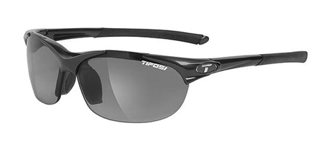 Tifosi Wisp 0040300234 Sunglasses Glossy Black Frame Polarized Smoke Lenses