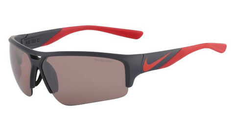 Nike Golf X2 Pro EV0873 Sunglass 060 Matte Grey/Red Frame Amber Lenses Size 74-11-135