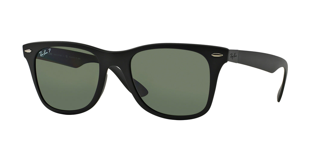 Ray-Ban Wayfarer Liteforce RB4195 Sunglass 601S9A Matte Black Frame Green Lenses Size 52-20-150