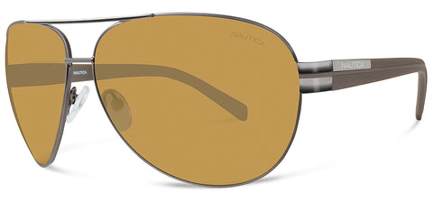 Nautica N4558S Sunglasses Brown Frame Brown Lenses Size 64-12-125