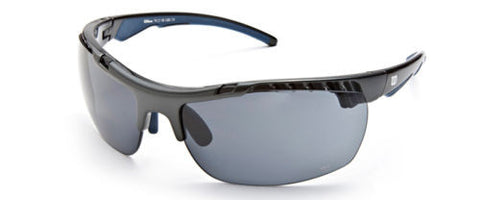 Wilson 1015 Sunglasses Black/Blue Frame Grey Lenses Size 74-18-120