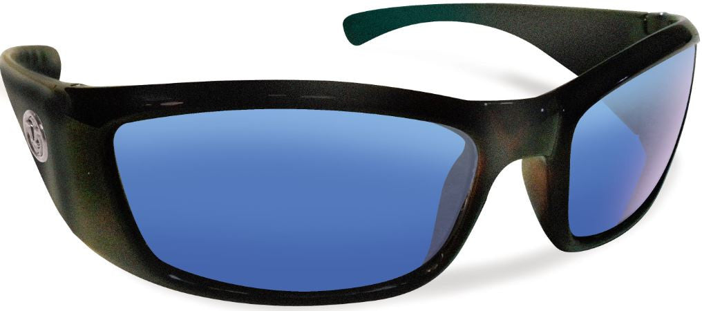 Flying Fisherman Boca Grande 7236 Sunglass Matte Black Frame Polarized Smoke/Blue Lenses Size 61