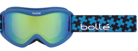 Bolle Volt Plus Goggles Blue Cross Frame Green Emerald Lens Youth