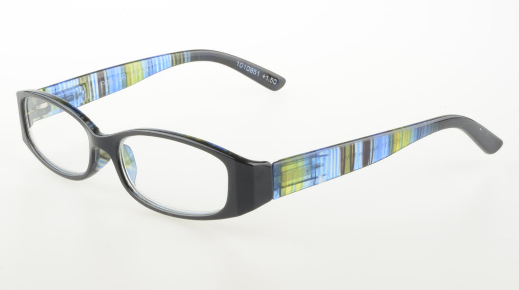 Foster Grant Rainbow +1.50 Reading Glasses Blue Frame Clear Lenses