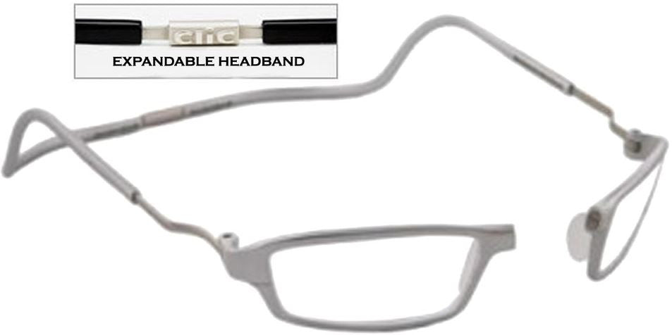 CliC Force XXL +2.00 Reading Glasses Silver Frame Clear Lenses Size 51-13-190