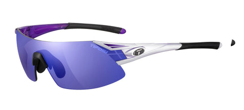 Tifosi Podium XC 1070103723 Sunglasses Crystal Purple Frame Polarized Clarion Purple/AC Red/Clear Lenses
