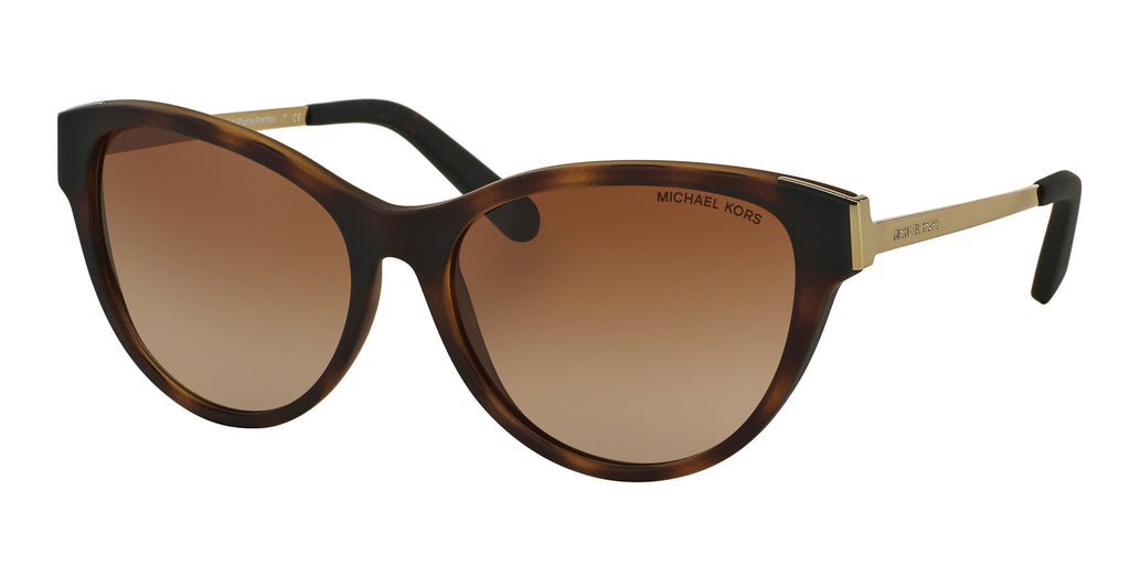 Michael Kors MK6014 Sunglass 302113 Dark Tortoise Soft Touch Frame Brown Lenses Size 57-16-135