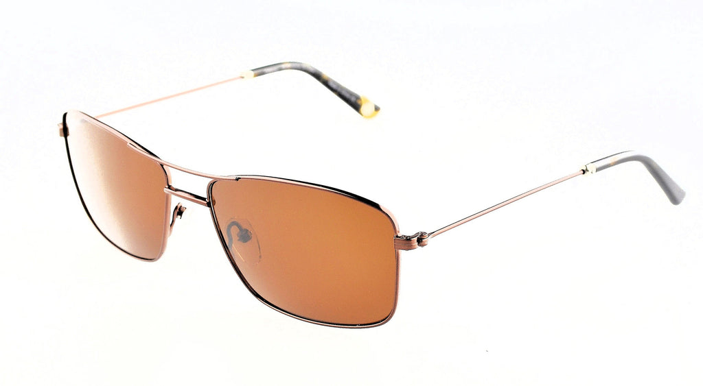Callaway Vector Sunglasses Brown Frame Brown Polarized Lenses Size 58