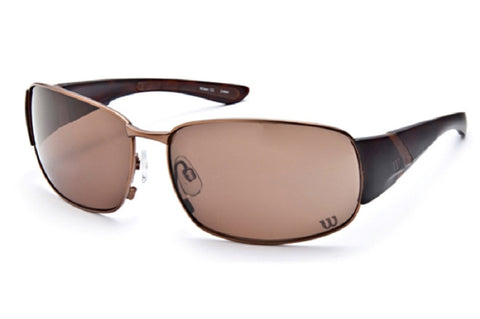 Wilson 1025 Sunglasses Gunmetal Frame Brown Lenses Size 64-15-122