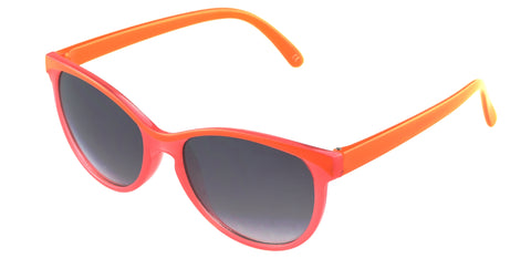 Foster Grant Brianna Sunglass Pink Orange Frame Grey Lenses