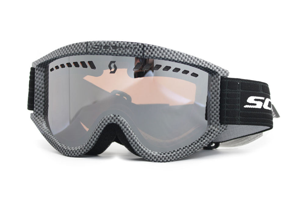 Scott Heli Plus OTG Goggles carbon Frame silver chrome Lens