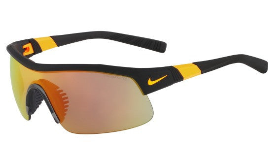 Nike Show X1 EV0805 Sunglass 049 Matte Black/Orange Frame Grey/Orange Lenses Size 69-18-135
