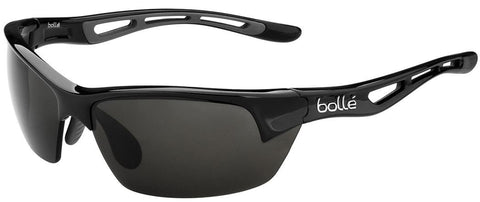 Bolle Bolt S Sunglasses Shiny Black Frame TNS Lenses Size 53-16-133