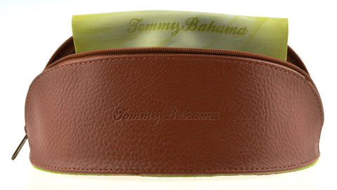 Tommy Bahama Leather Style Brown Sunglass Case