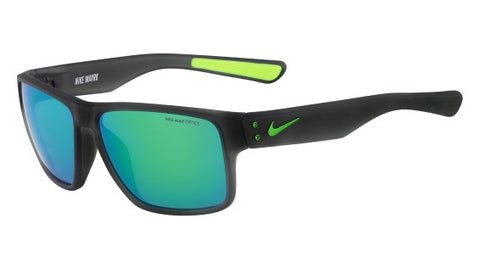 Nike Mavrk EV0773 Sunglass 013 Matte Grey/Lime Frame Grey/Green Lenses Size 59-15-140
