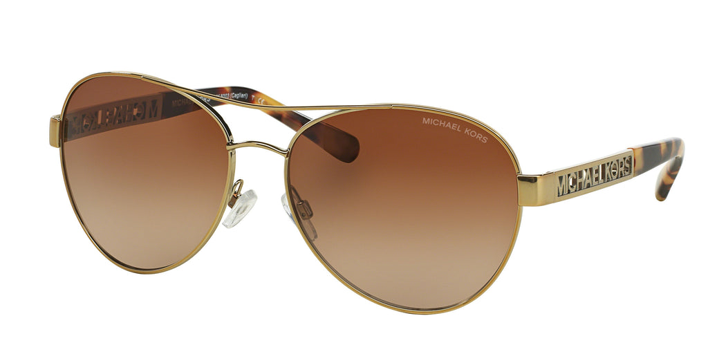 Michael Kors MK5003 Sunglass 100413 Gold Frame Brown Lenses Size 60-16-135