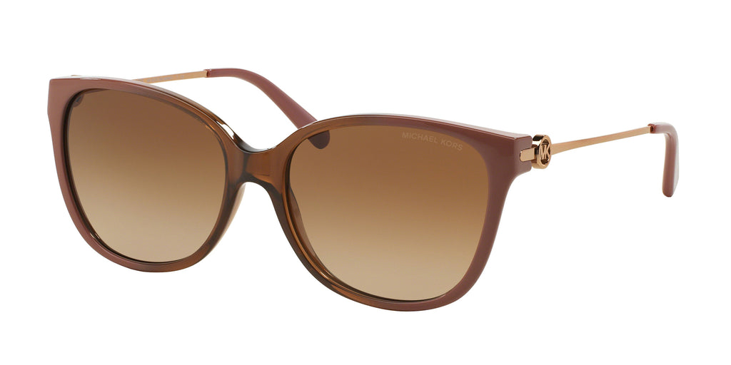 Michael Kors MK6006 Sunglass 300813 Brown Rio Coral Ombre Frame Brown Lenses Size 57-16-140