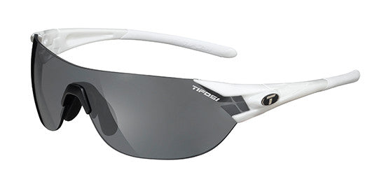 Tifosi Podium S Sunglasses Pearl White Frame Smoke/AC Red/Clear Lenses