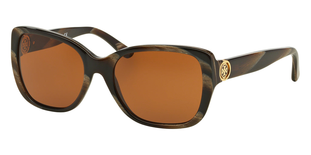 Tory Burch TY7086 TY7086 Sunglasses 1530/73 Tortoise Frame Brown Lenses Size 55-18-135