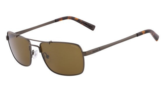 Nautica N5098S Sunglass 213 Brushed Brown Frame Polarized Brown Lenses Size 58-18-140