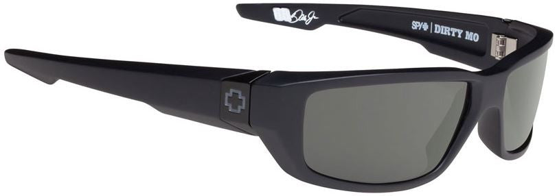 Spy Optics Dirty Mo Sunglass Matte Black Frame Polarized Happy Gray Green Lenses Size 59-18-122