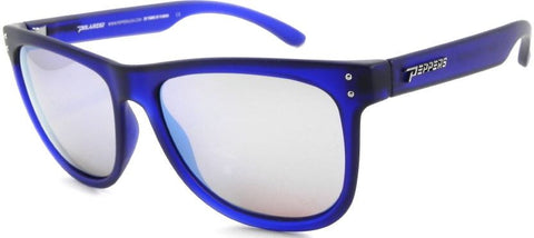Peppers The Gambler Sunglass Matte Crystal Blue Frame Polarized Brown Lenses