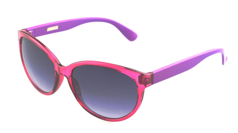 Foster Grant Ashley Cateye Sunglass Fuschia Purple Frame Grey Lenses