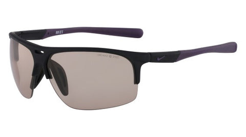 Nike Run X2 S EV0802 Sunglass 056 Matte Black/Purple Frame Amber Lenses Size 69-11-130