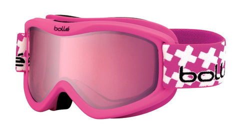 Bolle Volt Plus Goggles Pink Cross Frame Vermillon Gun Lens Youth