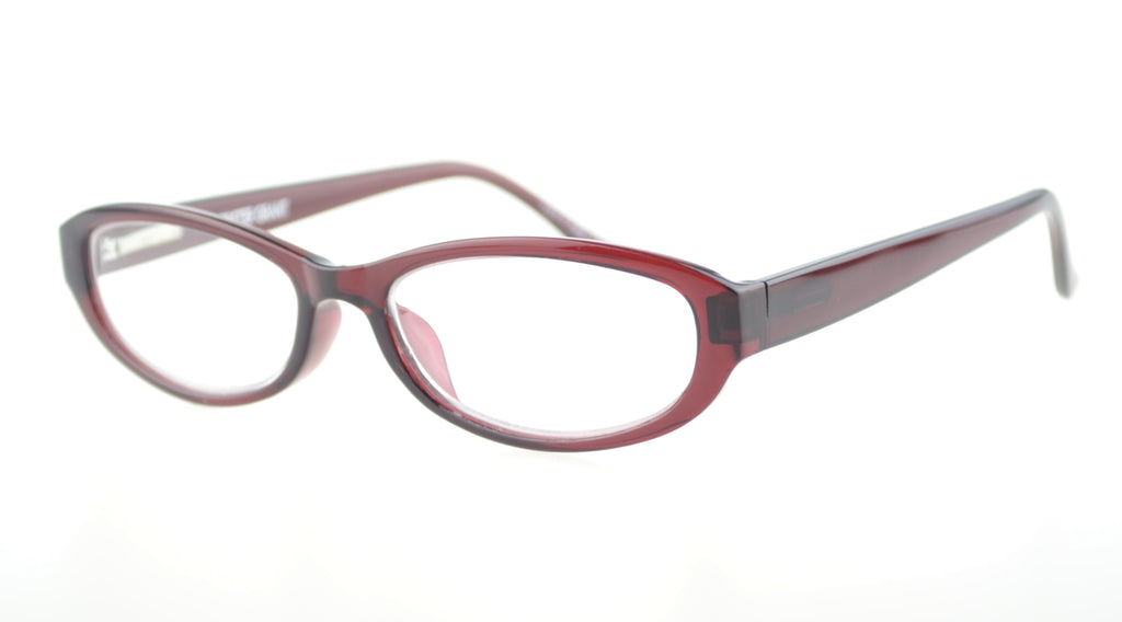 Foster Grant Koralie +2.50 Reading Glasses Burgundy Frame Clear Lenses