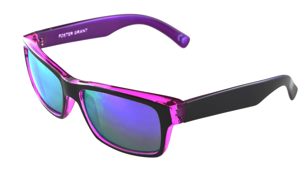 Foster Grant Dylan Sunglass Black Purple Frame Purple Lenses