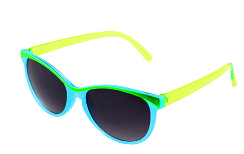 Foster Grant Brianna Sunglass Turquoise Lime Frame Grey Lenses