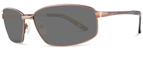 Nautica N4548S Sunglasses Satin  Brown Frame Grey Lenses Size 62-15-135