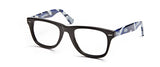 One Collection Wayfarer KL4008 Eyeglass Black Military Blue Frame Size 51-22-145